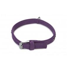 Beeztees Buffalo - Halsband Hond - Leer - Paars - 30-36 cm 30-36