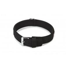 Beeztees Buffalo - Halsband Hond - Leer - Zwart - 60 cm 46,5-54,