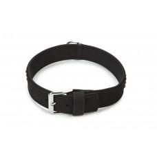 Beeztees Buffalo - Halsband Hond - Leer - Zwart - 65 cm 51-59 CM