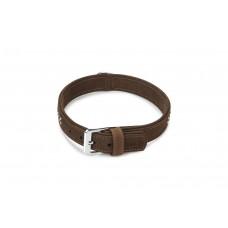 Beeztees Buffalo - Halsband Hond - Leer - Bruin - 55 cm x 30 mm