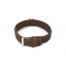 Beeztees Buffalo - Halsband Hond - Leer - Bruin - 60 cm x 40 mm