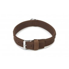 Beeztees Buffalo - Halsband Hond - Leer - Bruin - 65 cm x 40 mm