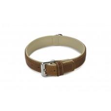 Beeztees Comfort - Halsband Hond - Leer - Bruin - 50 cm x 30 mm