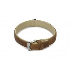 Beeztees Comfort - Halsband Hond - Leer - Bruin - 55 cm x 30 mm