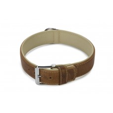 Beeztees Comfort - Halsband Hond - Leer - Bruin - 60 cm x 40 mm