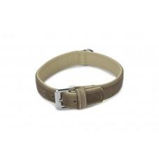 Beeztees Comfort - Halsband Hond - Leer - Grijs - 50 cm x 30 mm
