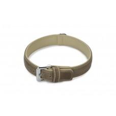 Beeztees Comfort - Halsband Hond - Leer - Grijs - 55 cm x 30 mm