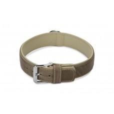 Beeztees Comfort - Halsband Hond - Leer - Grijs - 60 cm x 40 mm