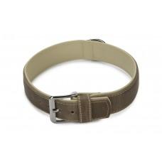 Beeztees Comfort - Halsband Hond - Leer - Grijs - 65 cm x 40 mm