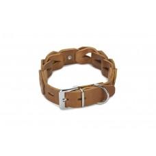 Beeztees Connex - Halsband Hond - Leer - Cognac - 50 cm x 30 mm