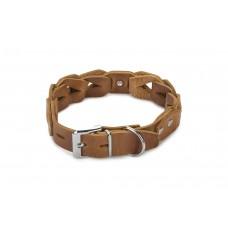 Beeztees Connex - Halsband Hond - Leer - Cognac - 55 cm x 30 mm