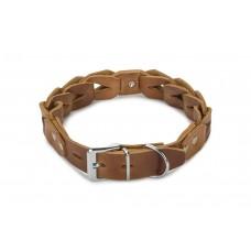 Beeztees Connex - Halsband Hond - Leer - Cognac - 60 cm x 30 mm