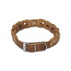 Beeztees Connex - Halsband Hond - Leer - Cognac - 65 cm x 30 mm
