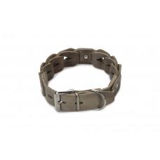 Beeztees Connex - Halsband Hond - Leer - Grijs - 55 cm x 30 mm 3