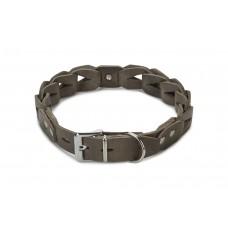 Beeztees Connex - Halsband Hond - Leer - Grijs - 65 cm x 30 mm 5