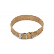 Beeztees Cork - Halsband Hond - Leer - Naturel - 55 cm x 30 mm 4