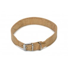 Beeztees Cork - Halsband Hond - Leer - Naturel - 60 cm x 35 mm 5