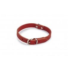 Beeztees - Halsband Hond - Leer - Rood - 32-37 cm x 16 mm 32-37