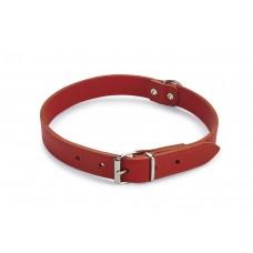 Beeztees - Halsband Hond - Leer - Rood - 47-57 cm x 25 mm 47-57