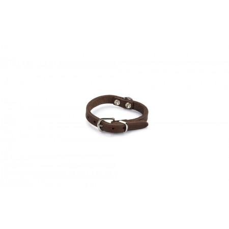 Beeztees - Halsband Hond - Leer - Bruin - 17,5-22,5 cm x 10 mm 1
