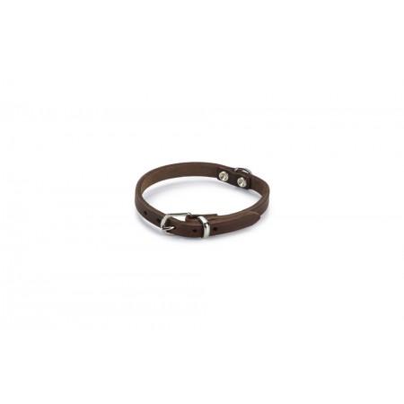 Beeztees - Halsband Hond - Leer - Bruin - 23-28 cm x 10 mm 23-28