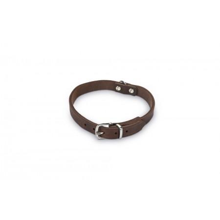 Beeztees - Halsband Hond - Leer - Bruin - 32-37 cm x 16 mm 32-38