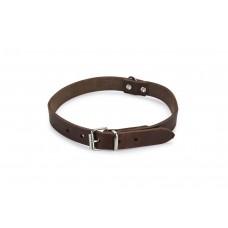 Beeztees - Halsband Hond - Leer - Bruin - 43-52 cm x 20 mm 43-52