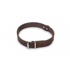 Beeztees - Halsband Hond - Leer - Bruin - 47-57 cm x 25 mm 47-57