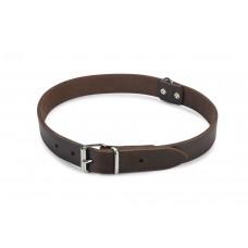 Beeztees - Halsband Hond - Leer - Bruin - 55-65 cm x 25 mm 55-65