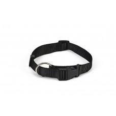 Beeztees - Halsband Hond - Nylon - Zwart - 30-45 cm x 15 mm 30-4