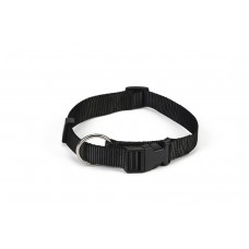Beeztees - Halsband Hond - Nylon - Zwart - 40-65 cm x 25 mm 40-6