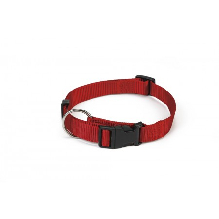 Beeztees - Halsband Hond - Nylon - Rood - 22-35 cm x 10 mm 22-35