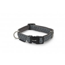 Beeztees - Halsband Hond - Mac Leather - Grijs - 20-40 cm 20 - 4