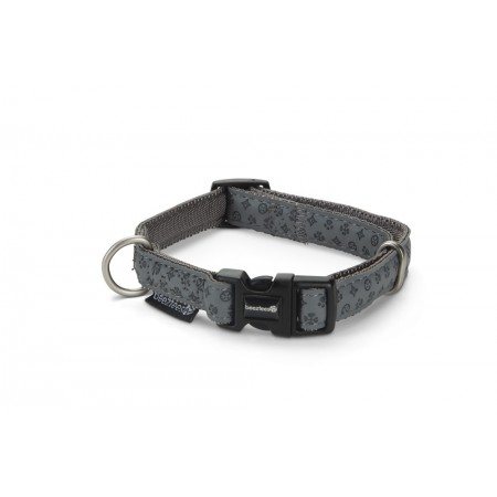 Beeztees - Halsband Hond - Mac Leather - Grijs - 20-40 cm 20 - 4