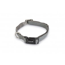 Beeztees - Halsband Hond - Mac Leather - Grijs - 45-70 cm 45 - 7