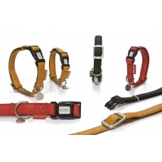 Beeztees - Halsband Hond - Mac Leather - Bruin - 20-40 cm 15 X 2