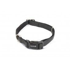 Beeztees - Halsband Hond - Mac Leather - Zwart - 45-70 cm 25 X 4