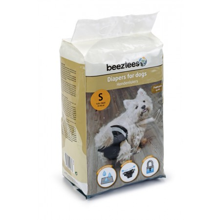 Beeztees - Hondenluier - Zwart - S - 20ST 41,5 X 28 CM