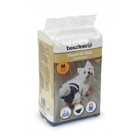 Beeztees - Hondenluier - Zwart - M - 12ST 52 X 32 CM