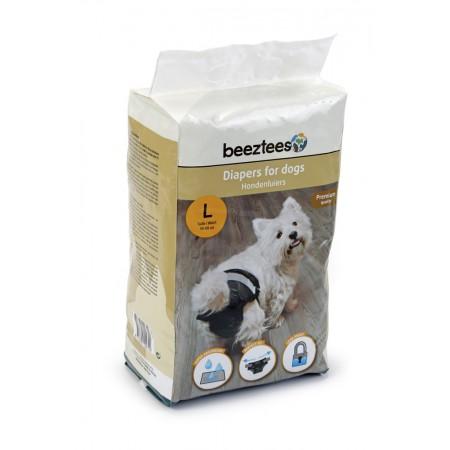 Beeztees - Hondenluier - Zwart - L - 10ST 59 X 35 CM