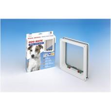 Dogmate Hondendeur 221 - Hondenluik - Wit - S - 23,5x25,2 cm 23,5 X 25,2 CM