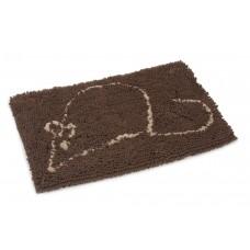 Dirty Cat Droogloopmat - Kat - Bruin - 60x40 cm 60 X 40 CM