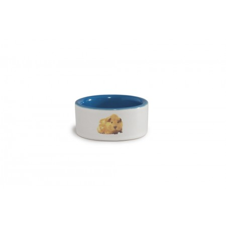 Beeztees - Hamstervoerbak - Keramiek - Blauw - Diam. 7,5 cm DIA