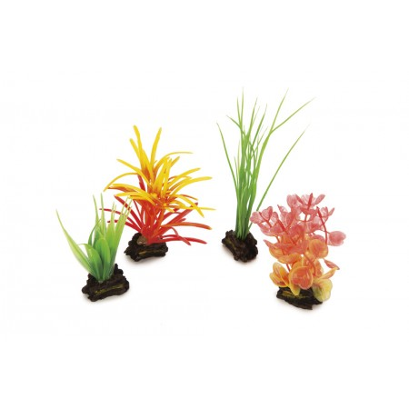 Beeztees Aqua Plant Mix - Aquariumdecoratie - Plastic - 4ST 3 X