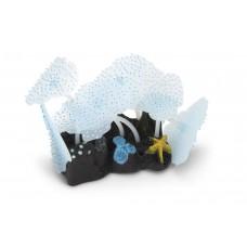 Beeztees Zeeanemoon Blad - Aquariumdecoratie - Blauw - 10 cm 10