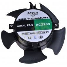 Powerfan ventilator 120x120x38 mm, kogell./kabels ZONDER FRAME z