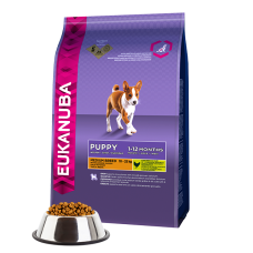 -   Eukanuba dog puppy/junior medium chicken 12 kg