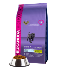 -   Eukanuba dog puppy/junior large chicken 12 kg
