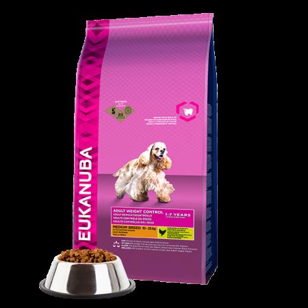 -   Eukanuba dog daily care adult medium over w/steril 12,5 kg