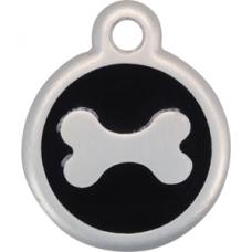 reddingo botje hondenpenning 25 mm ZWart